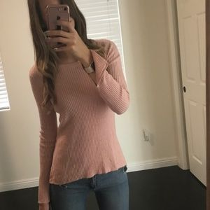 H&M Pink Ribbed Sweater
